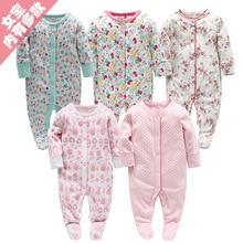 Живописная детская одежда для новорожденных девочек блузка с длинными рукавами из чистого хлопка Одежда для младенцев с кроликом на возраст от 0 до 12 месяцев