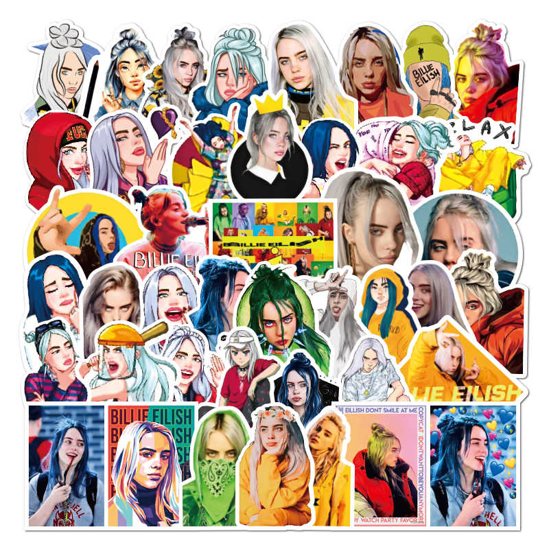Waterproof Billie Eilish Laptop Stickers Diy Suitcase Pvc Luggage