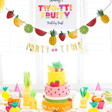 Fruits Flags Banner Creative Bunting Birthday Tropical Baby Shower Paper Beautiful