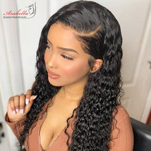 13X4 HD Transparent Lace Frontal Malaysian Water Wave Wig Arabella Pre Plucked Remy Human Hair Wig With Baby Hair Closure Wig