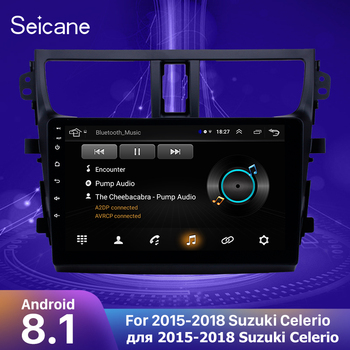 Seicane 9 inch Android 8.1 Car GPS Navigation for 2015 2016-2018 Suzuki Celerio Support Steering Wheel Control OBD2 Carplay DVR image