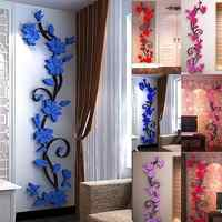 New Fashion Home Living Room Decorations Wall Stickers 3D Flower Removable DIY Wall Sticker Decal Mural bedroom decor