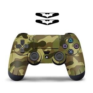 Image 5 - Para sony ps4 controlador camuflagem vinil pele adesivo capa pele para playstation 4 gamepad decalque joystick controle