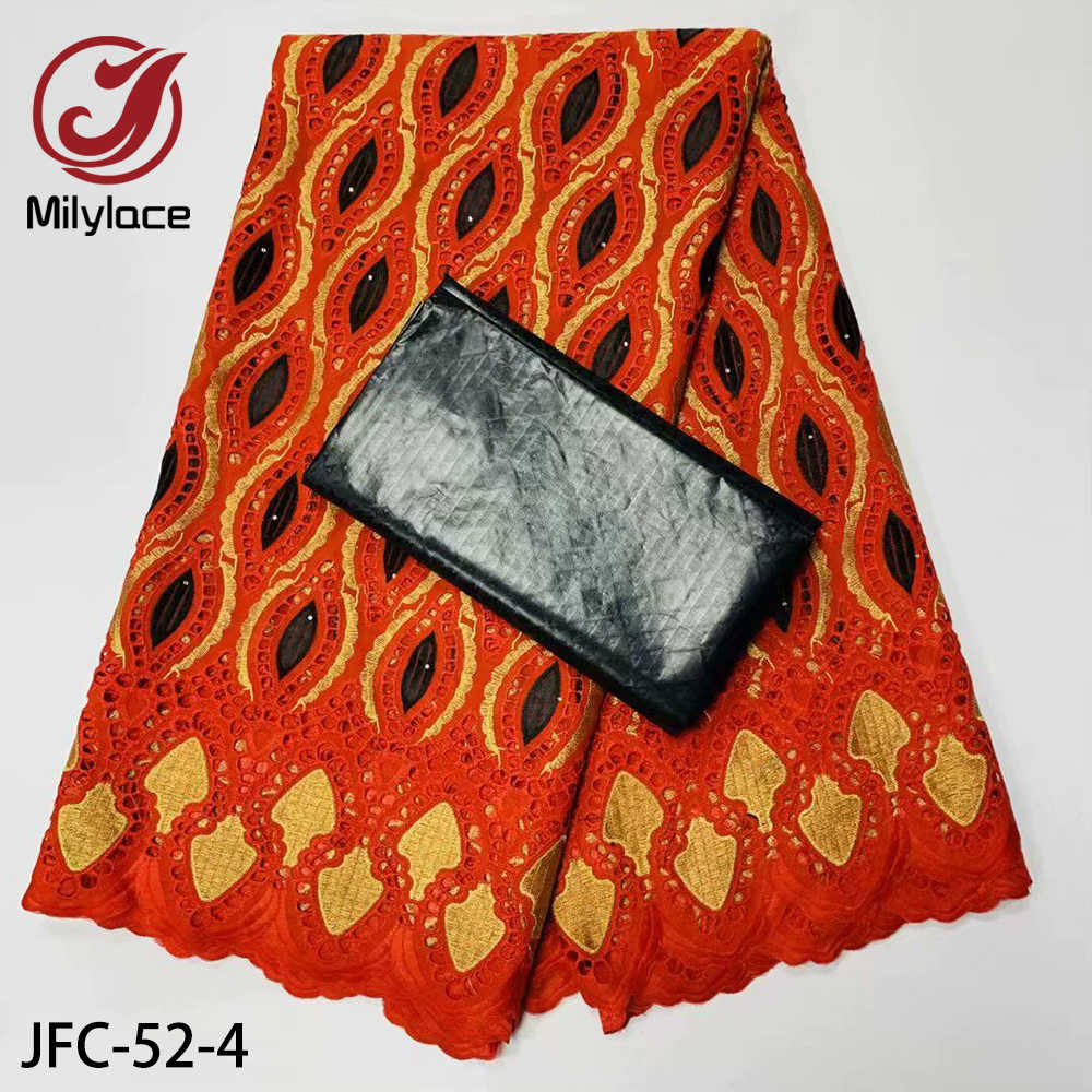 Вышитая африканская сухая кружевная ткань швейцарская вуаль хлопчатобумажная кружевная ткань с камнями Базен кружевная ткань 2,5 + 2,5 ярдов/партия JFC-52