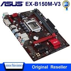 Asus EX-B150M-V3 سطح المكتب اللوحة DDR4 LGA 1151 إنتل B150 DDR4 32 جيجابايت PCI-E 3.0 USB3.0 مايكرو ATX i7 i5 الأصلي المستخدمة اللوحة الرئيسية