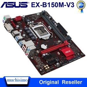 Asus EX-B150M-V3 Desktop Motherboard DDR4 LGA 1151 Intel B150 DDR4 32GB PCI-E 3.0 USB3.0 Micro ATX i7 i5 Original Used Mainboard