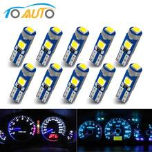10Pcs T5 W3W W1.2W T5 W2X2.6d 3030 Led Auto Board Instrument Panel Lamp Auto Dashboard Warming Indicator Wedge Light lamp DC12V(China)