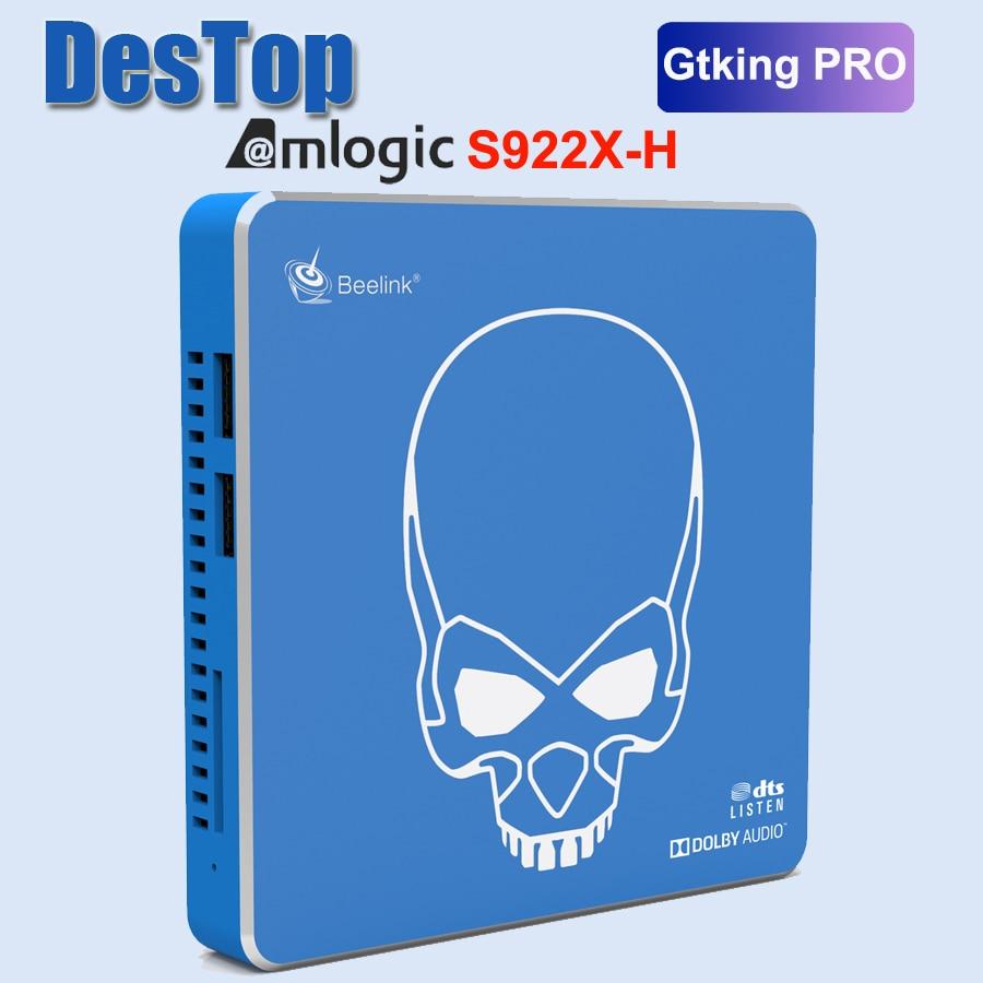 Beelink GT-King Pro akıllı TV kutusu Hi-Fi kayıpsız Amlogic S922X-H Hexa çekirdek Android 9.0 4GB RAM 64 ROM DTS dinle Dolby ses 4K