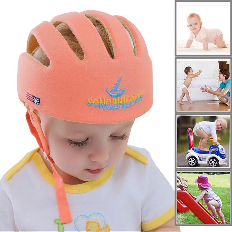 Bébé chapeau casque sécurité Protection enfants apprendre à marcher Panama enfants Protection Anti Collision infantile casquette pour garçons filles