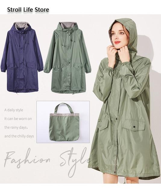 Japanese Windbreaker Riancoat Women Waterproof Jacket  Long Rain Coat Poncho Travel Hiking Rainwear Capa De Chuva Gift Ideas 5