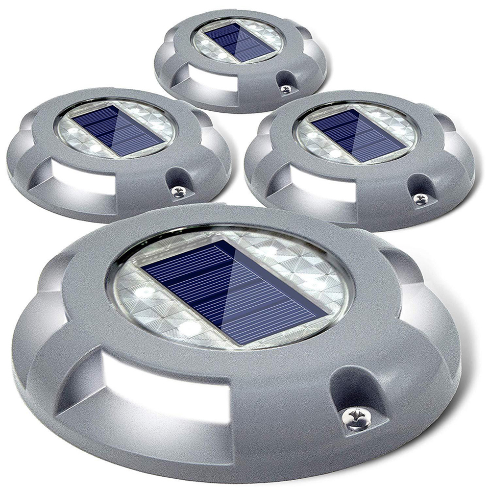 Led Aluminum Solar Light Waterproof Led Solar Lamps IP67 Outdoor Solar Power Lawn Light For Sturdy Road Driveway Path Plaza