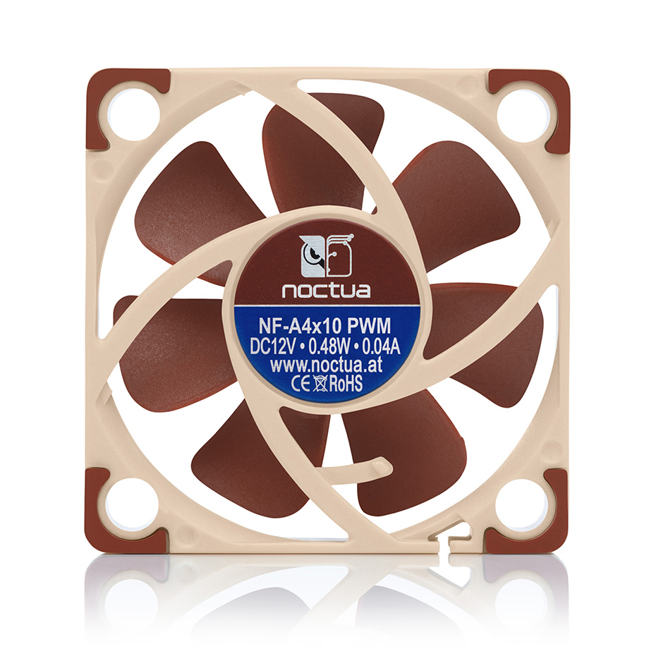 Noctua NF-A4x10 FLX <font><b>40mm</b></font> 12v 5v Cooling <font><b>fan</b></font> 3pin 4pin PWM <font><b>quiet</b></font> Radiator For Computer Case Cooling CPU cooler <font><b>fan</b></font> Replace image