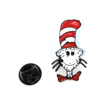Dr Seuss cat fashion vintage clothing Pins kids men women funny backpack clothes diy Enamel Brooches badge collar gifts