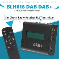 BLH616 DAB DAB+ Digital Radio Receiver Tuner FM Transmitter AUX out for Car Infrared Control Mode Man machine Operation