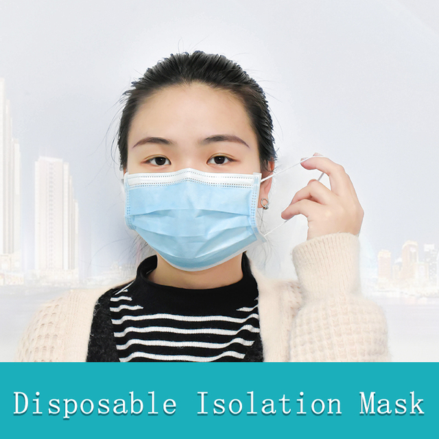 50pcs High Quality Mouth Mask 3-Ply PM2.5 Nonwoven Disposable Elastic Mouth Soft Breathable Flu Hygiene Face Mask Fast Shipping 5