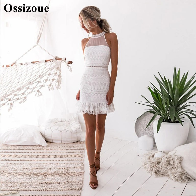 Simple Mermaid Lace Homecoming Dresses Short Mini Summer Hot Fashion Cocktail Party Dress YSAN648