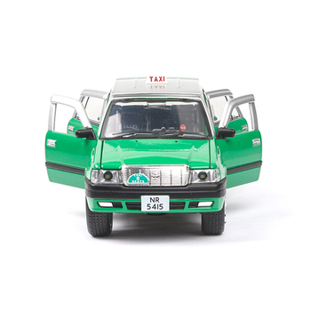 1/32 Scale Classic 90s Taxi Diecast Model Alloy Miniature Toy Car Metal Casting Light Sound Car Toys For Collection Kids Gift