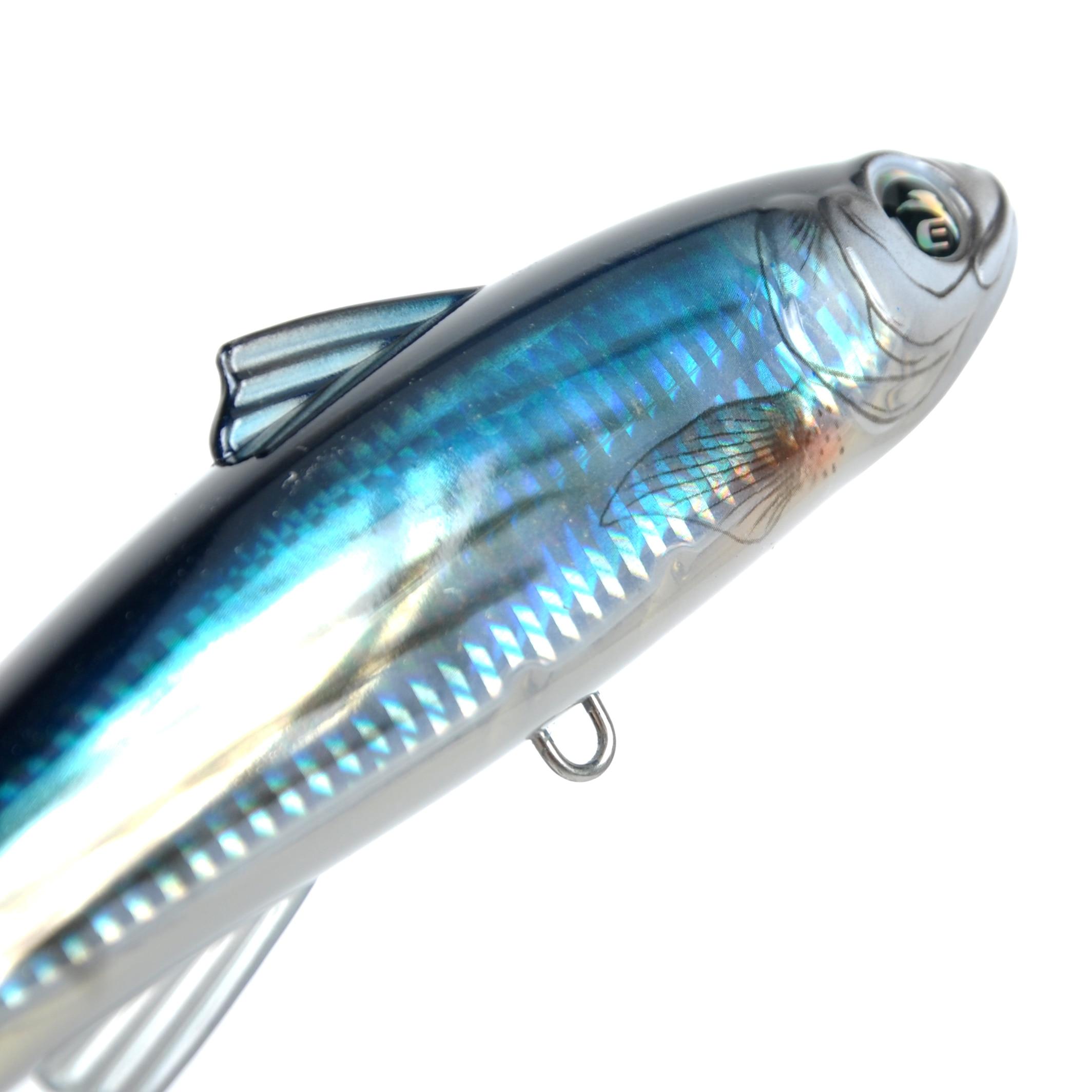 Ecooda frelon 6 pcs/Lot 180mm 82g pêche Popper eau salée leurre Topwater Trolling grand crayon leurre dur appât flottant - 5