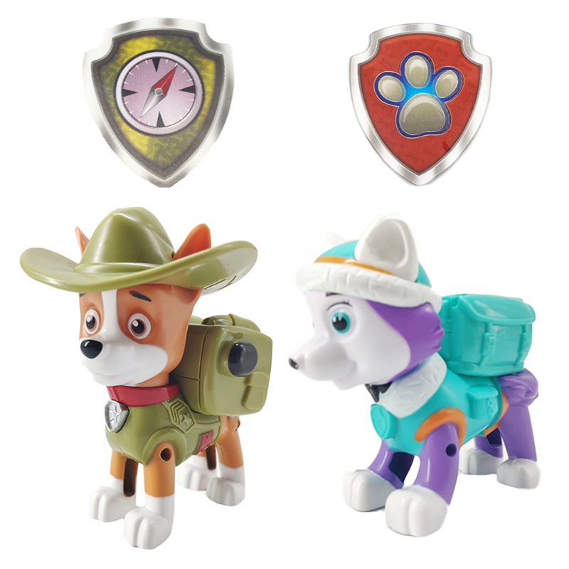 Paw Patrol Everest Tracker Dog Skateboard Puppies Snow Can Be Deformed Patrol Patrulla Canina PVC Action Figure Model Toys image