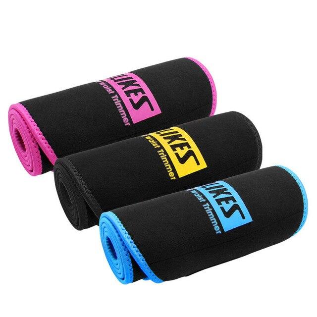 Women Slim Weight Loss Sweat Band Sports Waist Trimmer Belt Lumbar Brace Support Gym Weightlifting Training Fitness Accessories 2