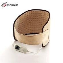 220V - 240V Length ad Electric Heated Waist Belt Heating Pad Belt for Abdomen Stomach Spine Warmer Wrap Back Pain Relief EU Plug