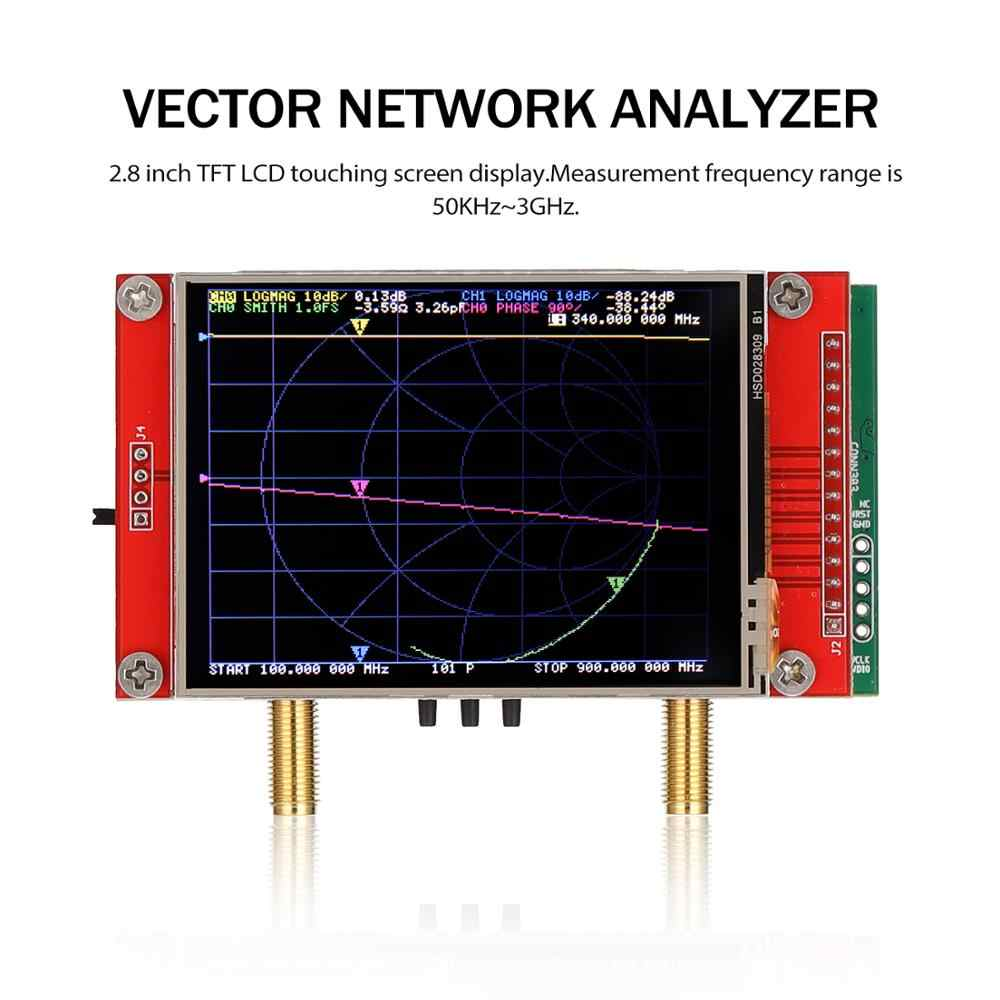 with Carrying Bag NanoVNA V2 Vector Network Analyzer,50KHz~3GHz 2.8Inch Large Screen S-A-A-2 NanoVNA V2 Antenna Analyzer Shortwave HF VHF UHF Measure Duplexer Filter