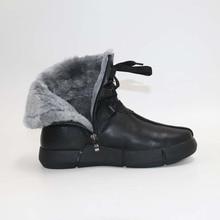 BootsWarm zapatos cálidos de lana para hombre, zapatillas masculinas de estilo bota, en invierno, 100% lana auténtica, bootsSnow