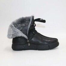 Yün erkek BootsWarm erkek BootsMen erkek sıcak ayakkabı çinde winter100 % gerçek yün shoesSnow çizmeler kar erkek ayakkabıları