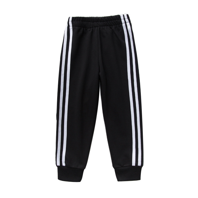 Autumn Winter Boys and Girls Trousers Stripe Sport Pants for Girls and Boys Kids Pants 6