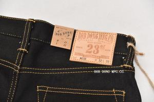Image 3 - BOB DONG Schwarz Schwergewicht Selvage Denim 23 unzen Jeans Für Männer Regelmäßige Gerade Fit