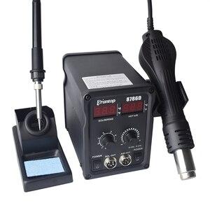 Image 5 - Eruntop 8786D 8586D+ Electric Soldering Irons +Hot Air Gun Better SMD Rework Station Upgraded 8586 8586+ 8586D