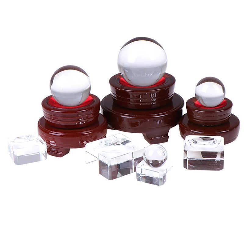 สีแดงสีน้ำตาลไม้ขาตั้งฐานสำหรับลูกบอลคริสตัล Sphere Globe หินไม้ขาตั้งอุปกรณ์เสริม