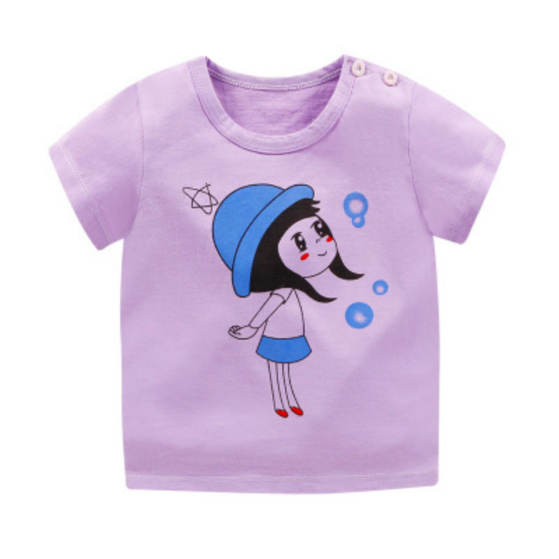 Short Sleeve Children T-Shirts Cotton Boys T Shirt Kids TShirt Summer Kids Girls Tops 12M-6Y Children Clothes Christmas Shirts image