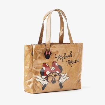 Disney Mickey mouse Kraft paper lady shoulder bag women handbag High capacity cartoon shopping bag