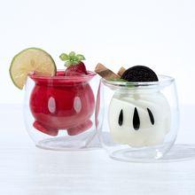 Оригинальная мультяшная стеклянная прозрачная кофейная кружка