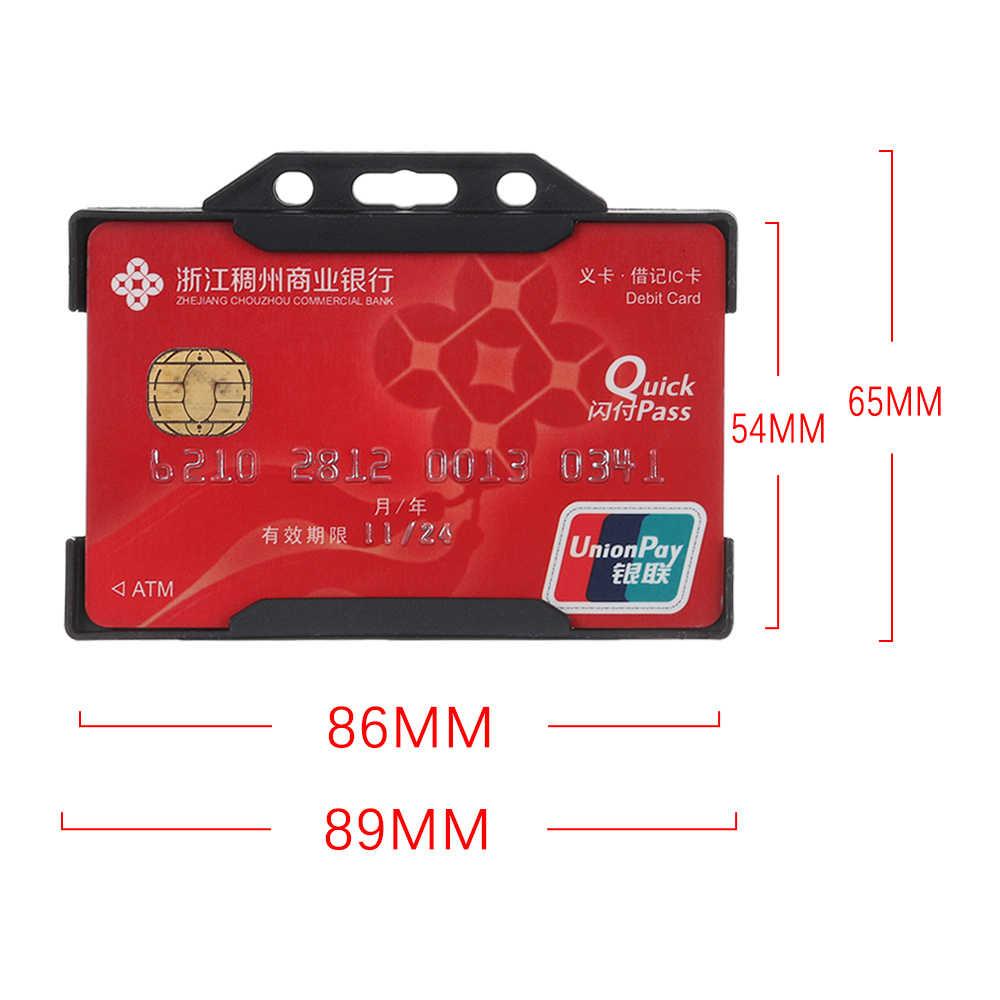 1 PC ทนทาน Multi-use Hard พลาสติก Badge ID Card ผู้ถือแบบพกพา Protector Cover ID Card ผู้ถือ
