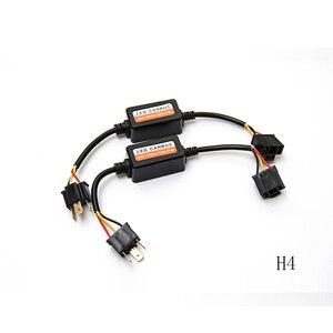 Image 3 - 2PCS H1 H11 H4 H7 LED 9005 9006 Canbus Car Headlight Decoder Wiring Adapter DRL LED Lamp Error Canceler Fog Light Canbus