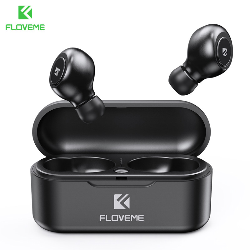 FLOVEME TWS 5.0 Wireless Headset Bluetooth Earphone Headphones For Smart Phone Earphones Stereo Sound Earbuds Dual Microphone