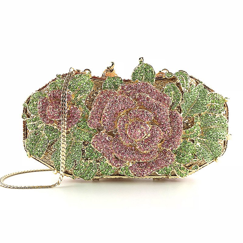 Bag for Woman Designer Bag Flower Diamond Evening Bags Women Party Shoulder Purse Cocktail Luxury Lady Money Pocket Crystal Bag-BeeInFly