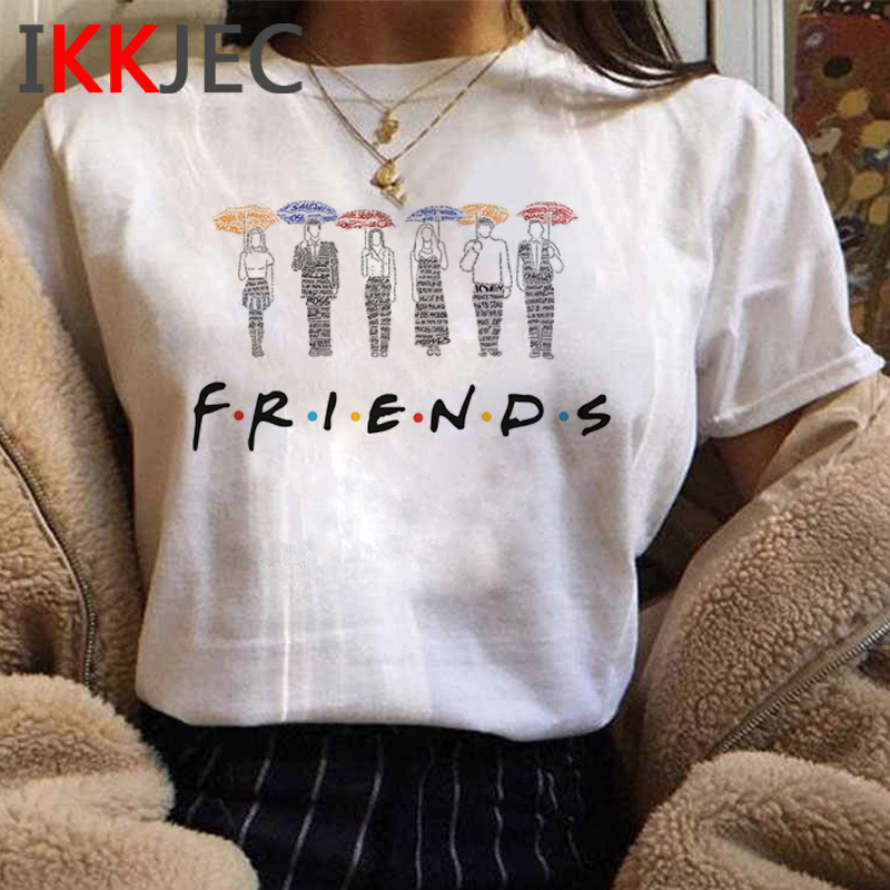 Cartoon Friends Tv Shows Graphic Tshirt Women Best Friends Graphic T-shirt Funny Anime Summer T Shirt Plus Size Top Tees Female image