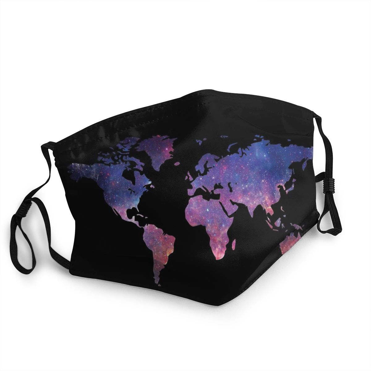 World Map Unisex Non-Disposable Face Mask Anti Bacterial Dustproof Protection Cover Respirator