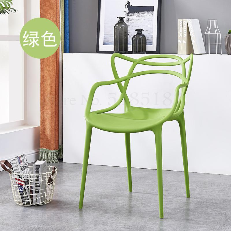 Nordic plastic dining chair household chair thick adult chair outdoor chair star vine chair coffee chair