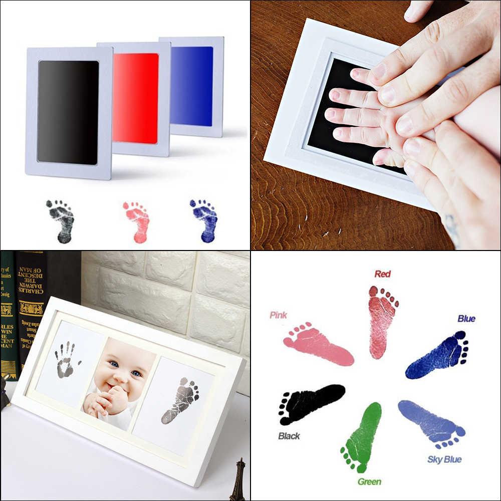 Kit d'empreintes digitales bébé encre tampon de stockage mémento encre nouveau-né Photo cadre Kits bébé Souvenir tiroir encreur Handprint Casting