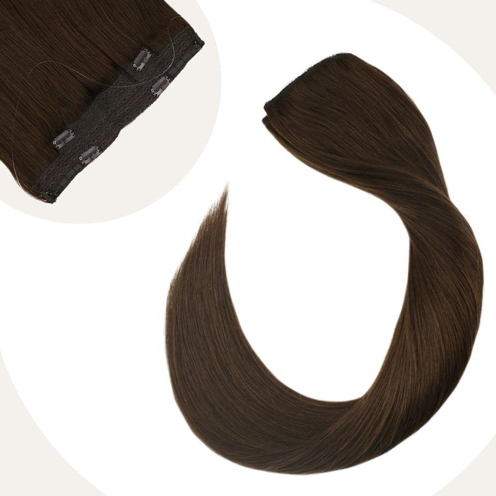 Halo Hair Extensions Weft Hair 12-22