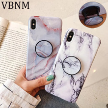 Blue Marble Stand Holder Phone Case For iPhone XR X XS Max 7 8 6 6S Plus Soft IMD Silicone Phone Back Cover Couple Fundas Coque цена и фото