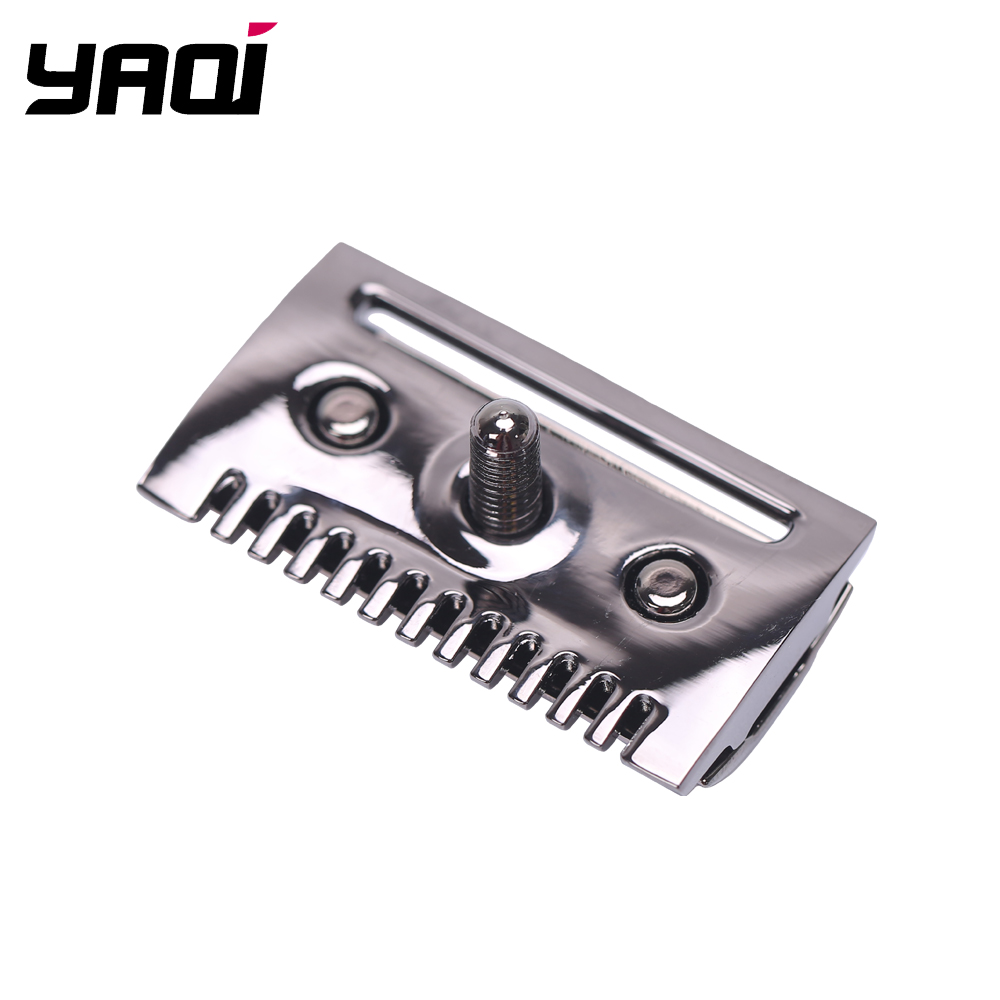 """The ""FLIPSIDE by Yaqi"" A Dual Comb Dual Aggression Level Razor Head In Chrome In Gunmetal"