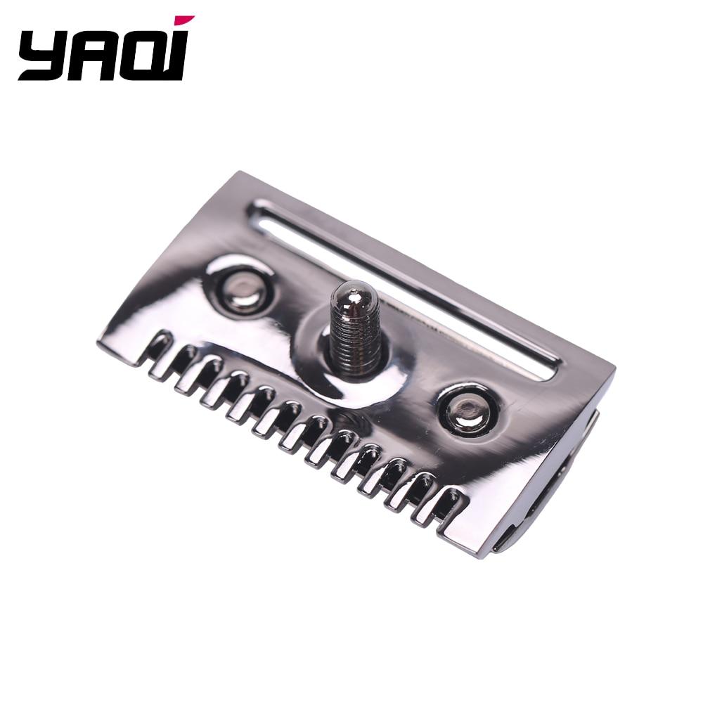"""The ""FLIPSIDE by Yaqi"" A Dual Comb Dual Aggression Level Razor Head In Chrome In Gunmetal"