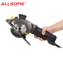 Wood-Cutter Circular-Saw Hand-Held Electric ALLSOME Bevel-Laser Multifunctional