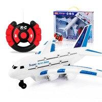 Air Bus Modelo Aviões de Controle Remoto de Volante SMV Luz Incluído Luz Música Elétrica Brinquedo DAS CRIANÇAS Por Atacado|  -