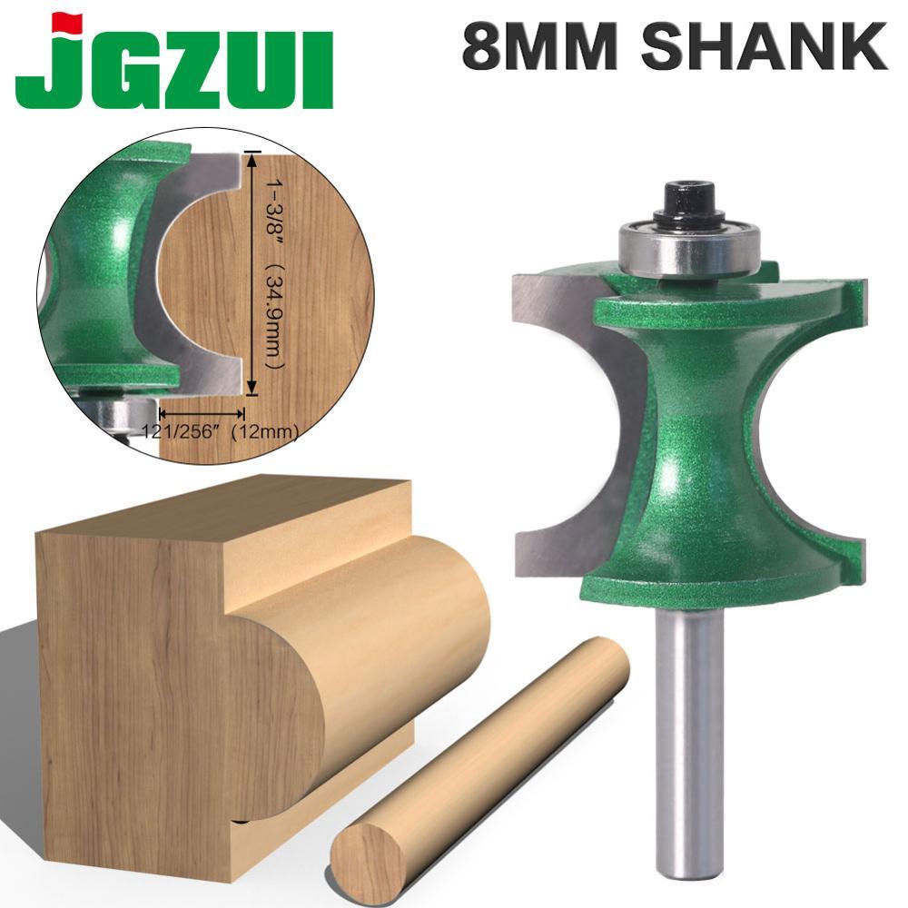 1 sztuk 8mm Shank Bullnose półokrągłe Bit Endmill frezy drewna 2 flet łożysko narzędzie do drewna frez